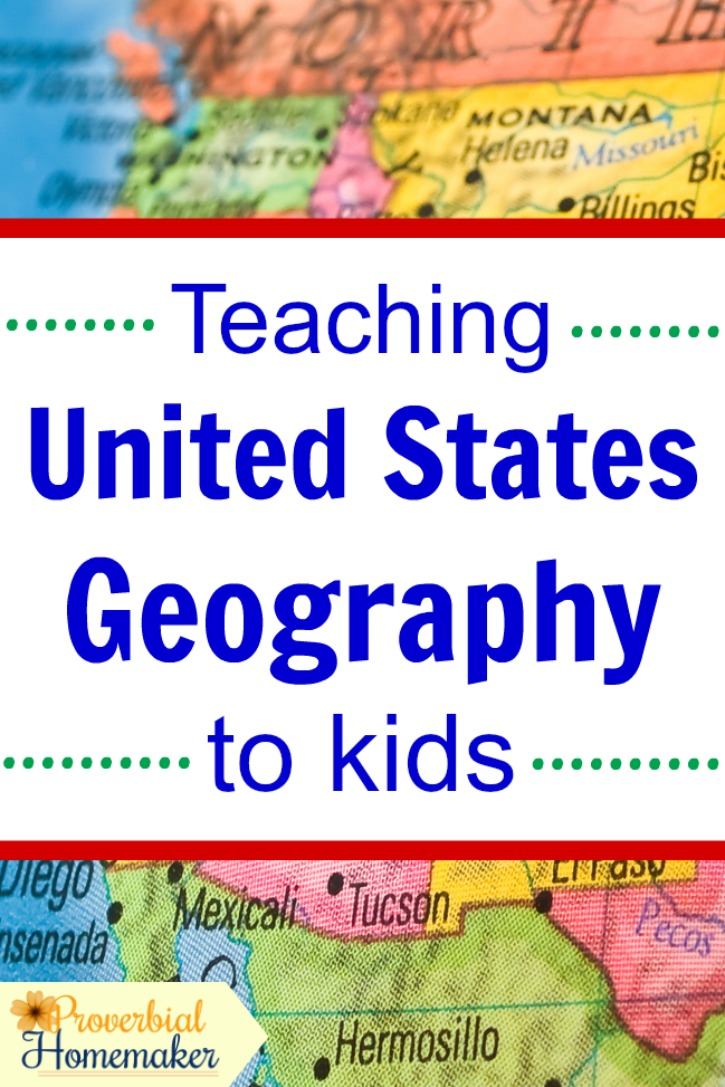 Teach United States geography to kids with this simple approach to map work and great learning tools!