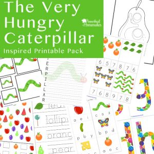 Your kids will love this Very Hungry Caterpillar printable pack!
