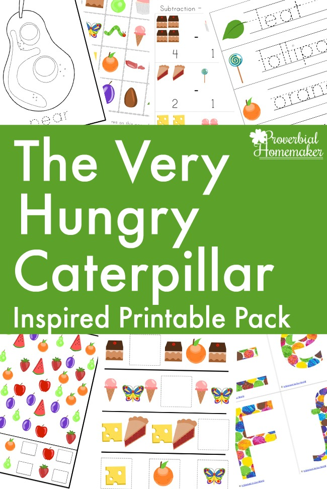 photograph relating to The Very Hungry Caterpillar Story Printable known as Absolutely free The Unbelievably Hungry Caterpillar Printable Pack - Proverbial