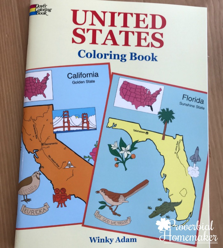 United states coloring book dover - Proverbial Homemaker