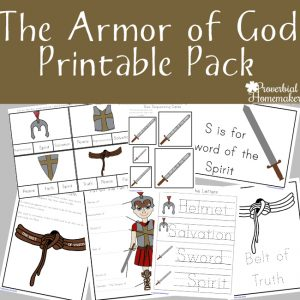 Your kids will love this armor of God printable pack! They will go through each part of the armor, learn what it means, and apply it to their lives!