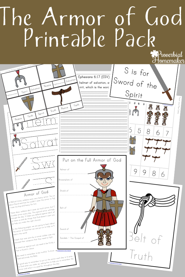 Armor Of God Printable Pack Proverbial Homemaker
