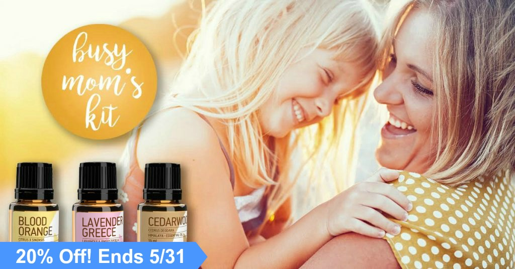 The Busy Mom Toolkit is a simple kit with three versatile oils that make one fantastic blend!