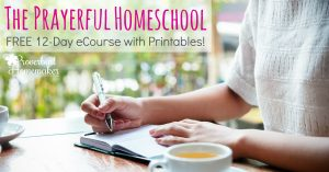 Pray over your homeschool! This 12-day ecourse provides tips, encouragement, and printables to help you have a prayerful homeschool. Pray for planning, troubleshooting, and the daily work!
