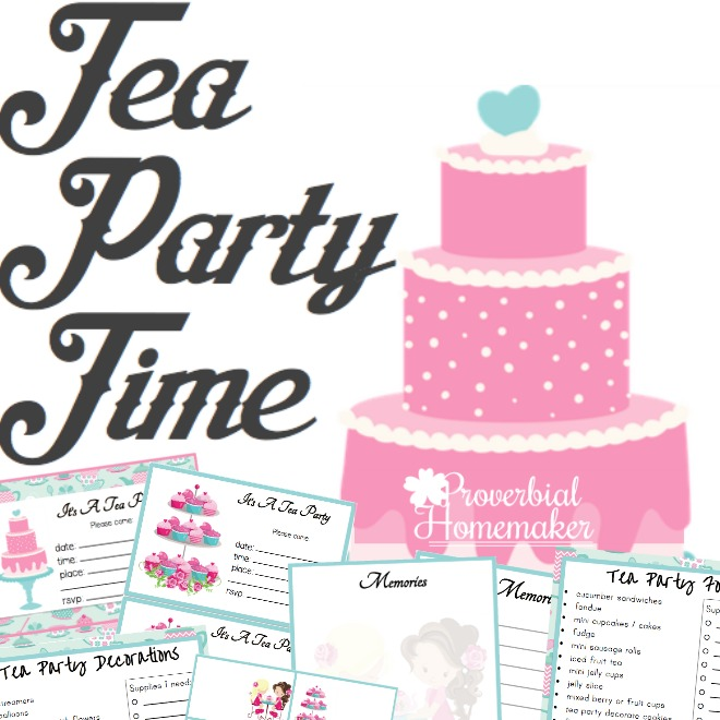 Tea Party Printable Pack