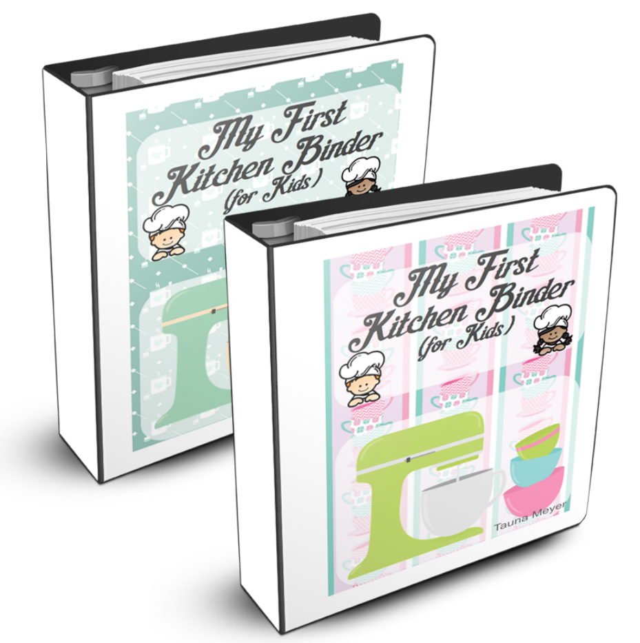 My First Kitchen Binder For Kids (Pink Or Green Versions