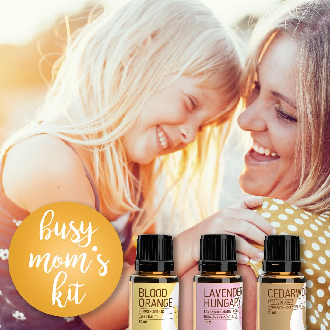Busy Mom Kit: 20% off the 3 BEST Busy Mom Essential Oils!