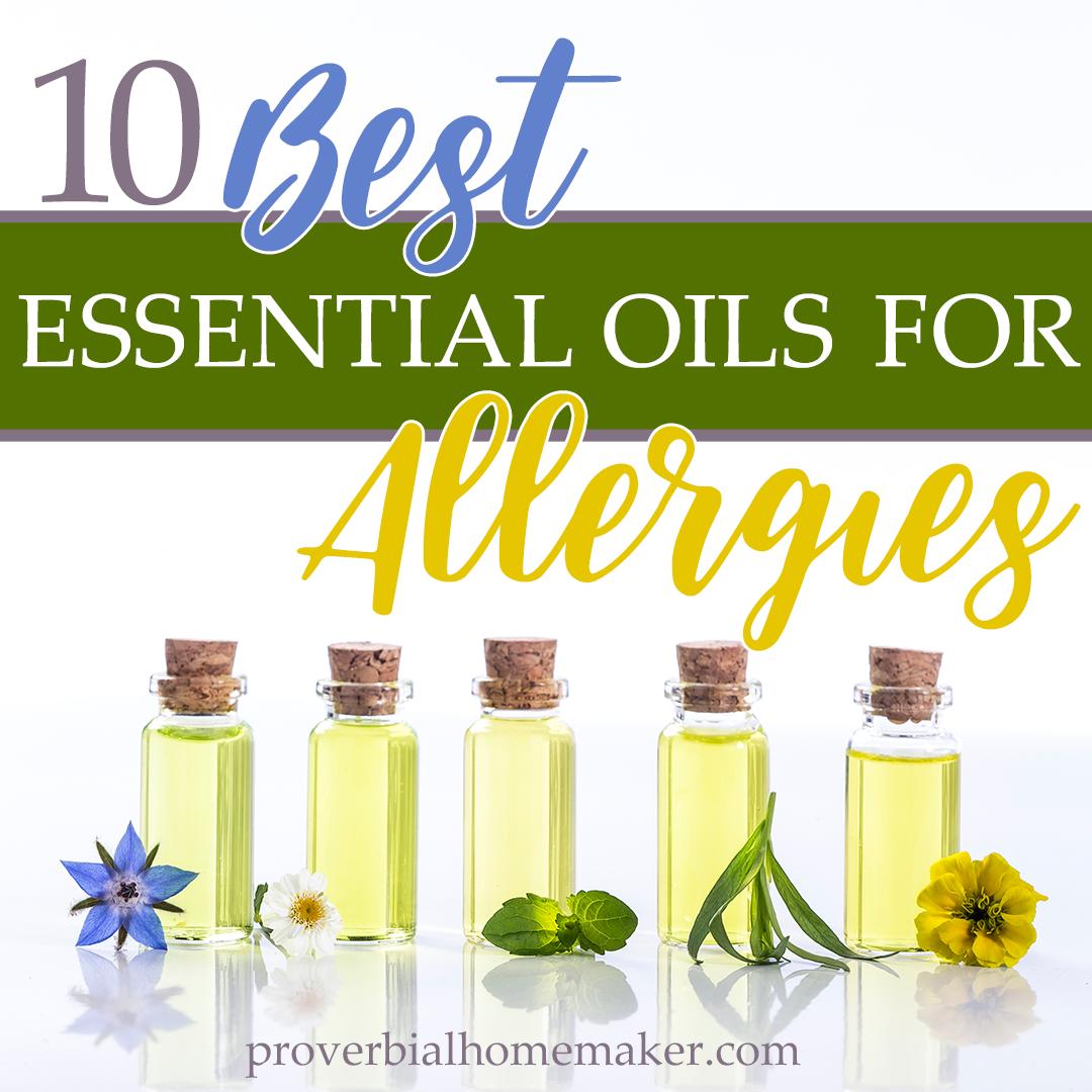 10 Best Essential Oils for Allergies