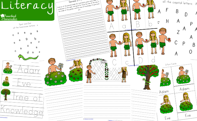 This Adam and Eve Printable Pack goes alongside this story of the first two people and their story in Genesis 2 - 3.
