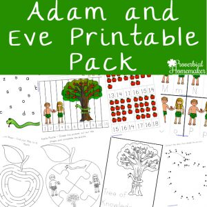 This 97 page Adam and Eve printable pack is a fun and helpful resource to reinforce what your kids learn from God's Word in Genesis 2 - 3.