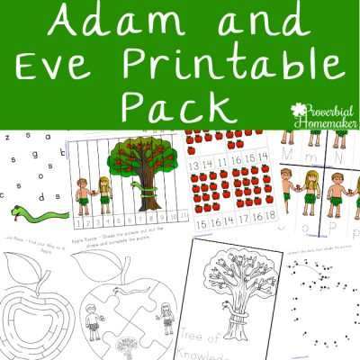 Adam and Eve Printable Pack (Free During March)