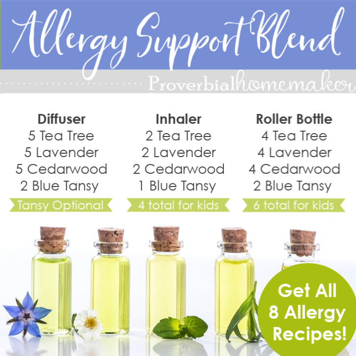 Suffering from seasonal allergies? Try one or more of these best essential oils for allergies and get some relief! Includes recipes and a kid-safe list, too! #essentialoils #essentialoilsafety #naturalliving #healthyfamilies #eorecipe #eorecipes #wellness #allergies #healthykids