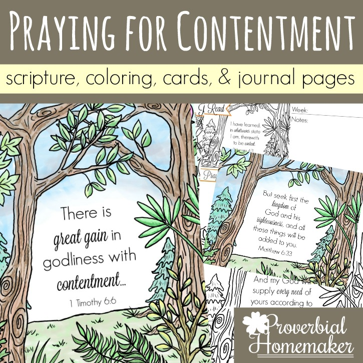 Praying for Contentment (Scripture Printables)