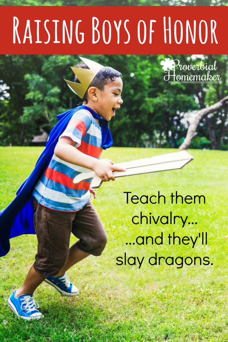 "Yes! We want to teach our boys to be boys of honor! Love this resource for ""Knights in Training."""