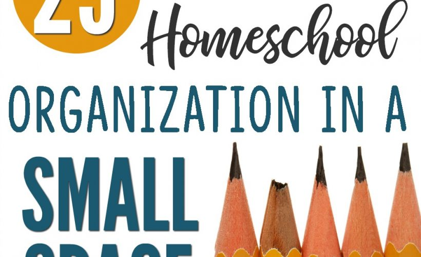 Fantastic ideas for homeschool organization in a small space!