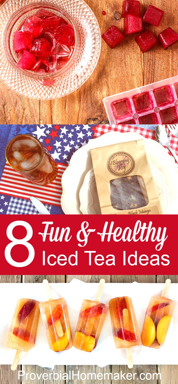 8 Fun and Healthy Iced Tea Ideas - great ideas for kids and adults to enjoy iced tea in different ways!