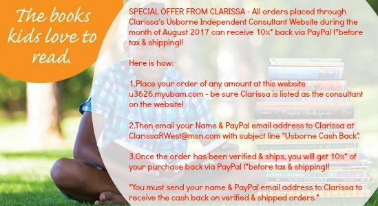 ClarissaRWest Independent Usborne Consultant Special Aug 2017