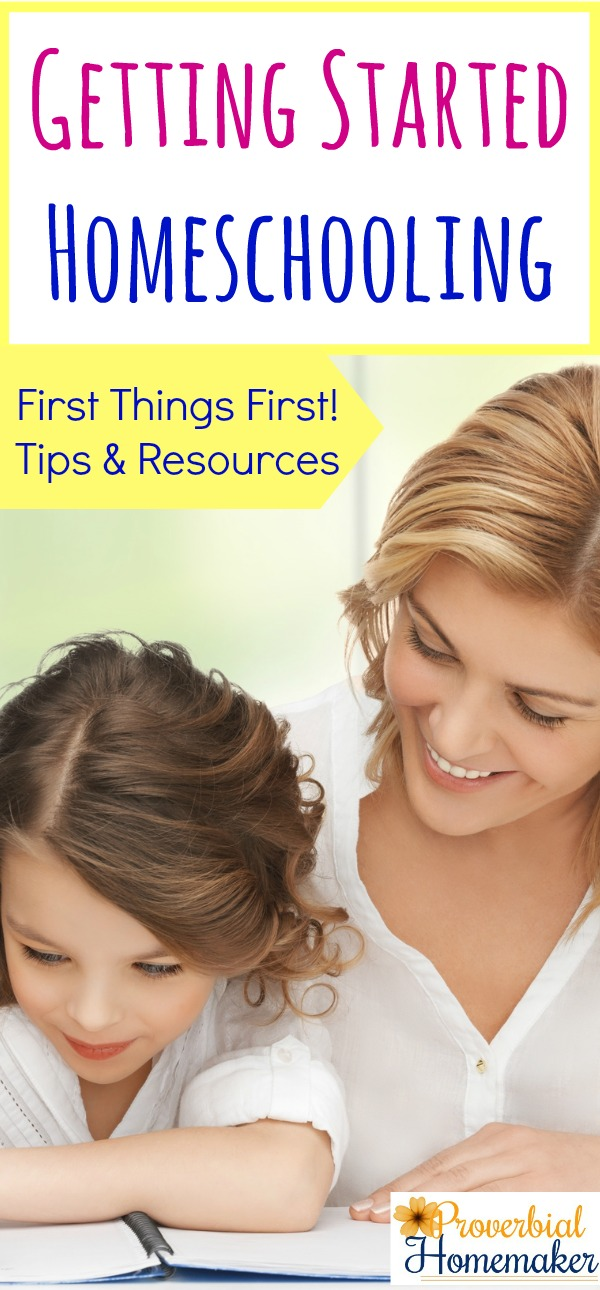 recommendations and resources so you can get started homeschooling!