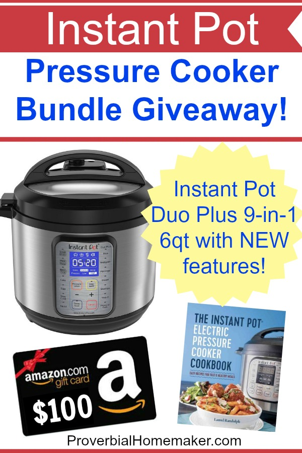 Enter this fantastic Instant Pot Duo Plus giveaway with an amazon card and more!