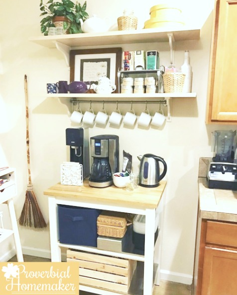 Coffee bar from ikea finds - ways to make a more inviting home