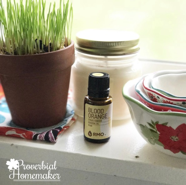Blood orange and other essential oils for scenting the home - ways to make a more inviting home