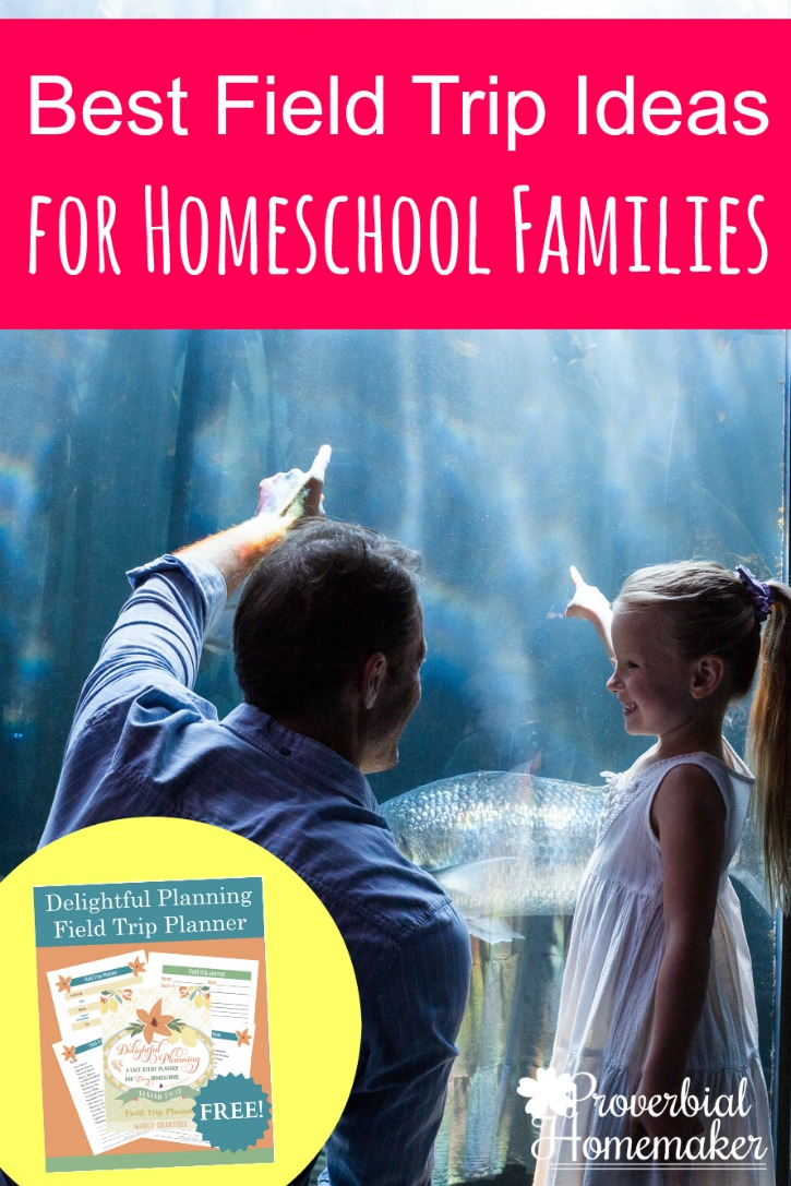 Check out this great list of field trip ideas for homeschool families PLUS a free field trip planner download!