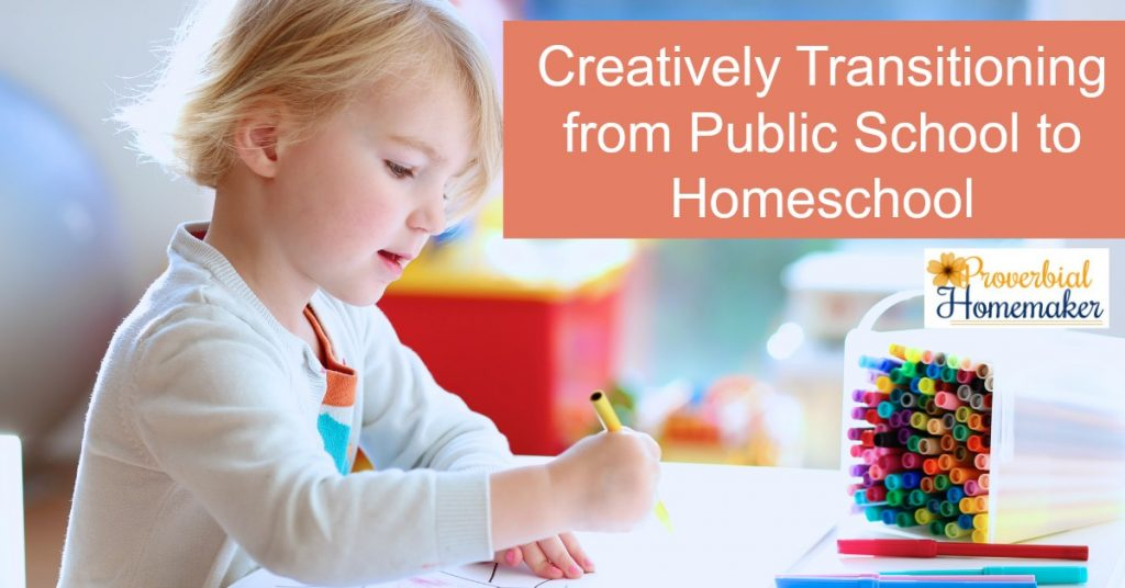 Creatively Transitioning from Public School to Homeschool with printable to help!