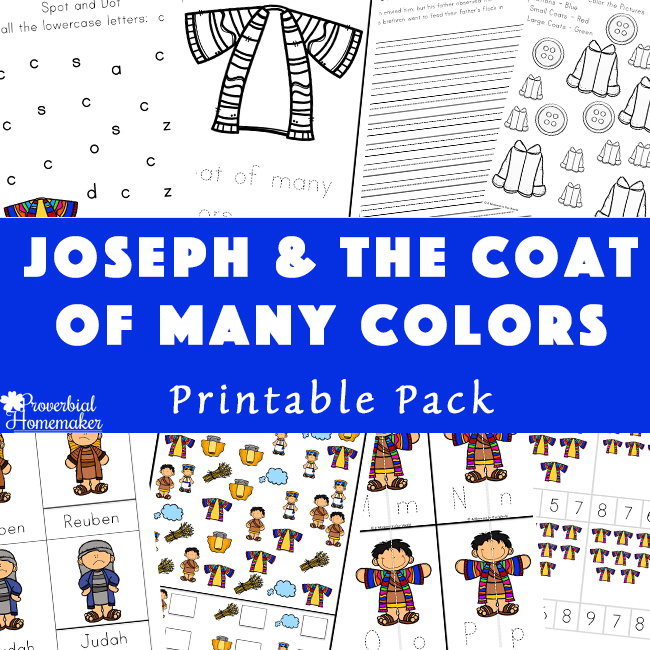 photo relating to Joseph Coat of Many Colors Printable known as Joseph Printable Pack - The Coat of A great number of Colours - Proverbial
