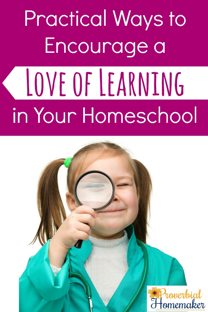 Practical Ways to Encourage a Loe of Learning in Your Homeschool