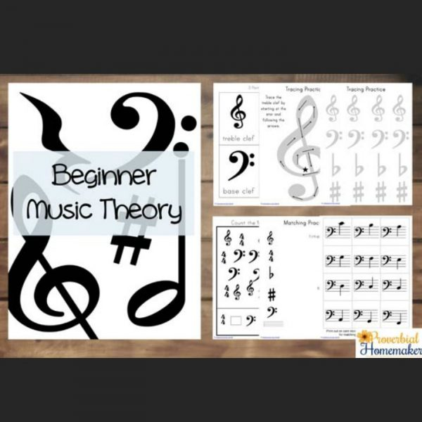 Teach your children beginner music theory with these fun activities! A great way to supplement music lessons or just for fun.