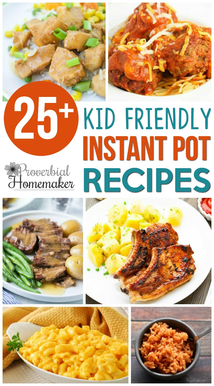 Want a win for dinner tonight? Save time while making the kids happy with these kid friendly Instant Pot Recipes!
