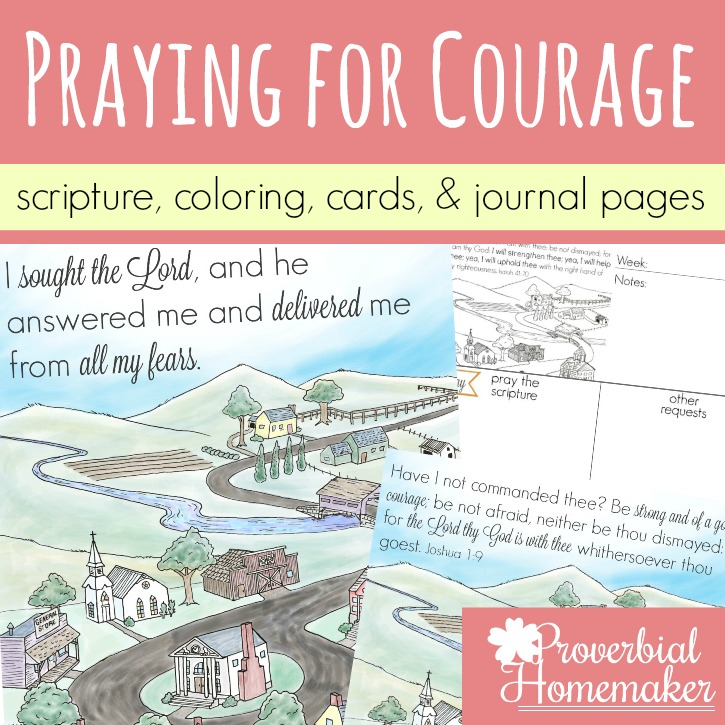 Praying for Courage (Scripture Printables)