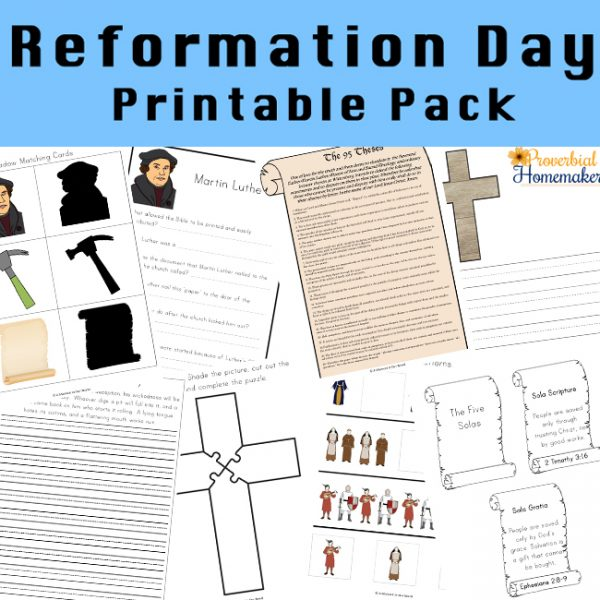 Make Reformation Day fun and educational for kids with a 130+ page printable pack for ages 2-9!