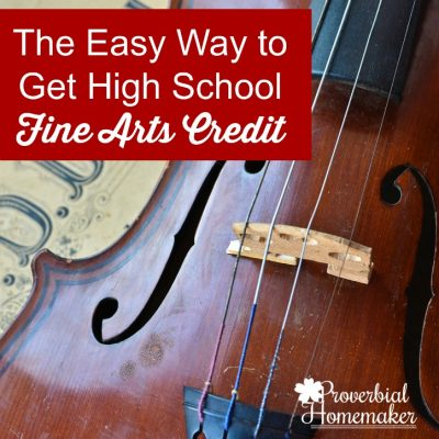 The Easy Way to Get High School Fine Arts Credit