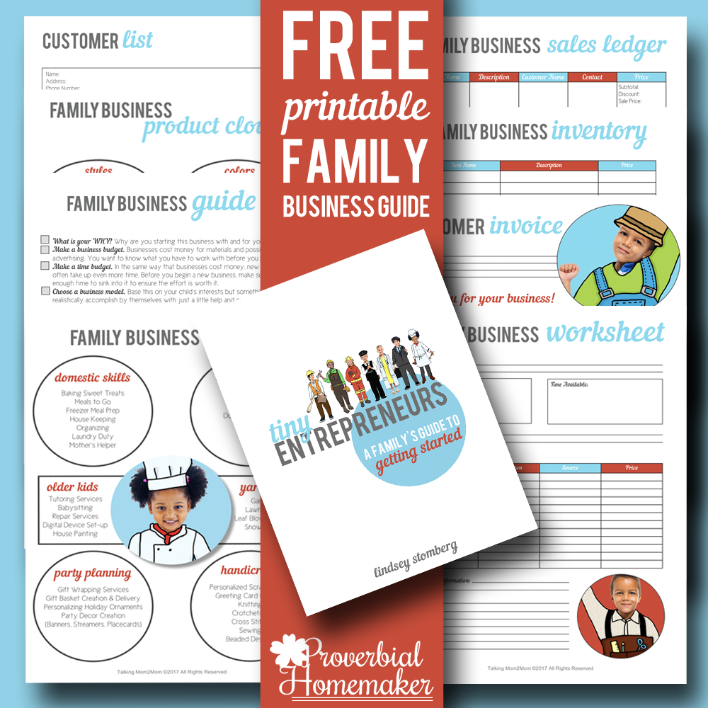 Raising Tiny Entrepreneurs with a FREE Guide to Getting Your Family Business Started