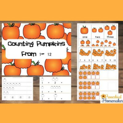 Counting Pumpkins From 1 to 12 – Pumpkin Printable Pack