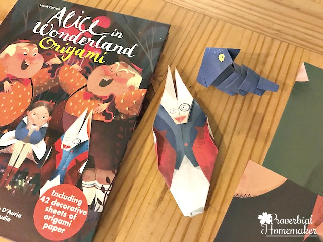 These kids origami sets are a perfect gift for kids but also a great quiet time activiity, a gift-making project, and a wonderful way to explore the classic storybooks of Beauty and the Beast and Alice in Wonderland!