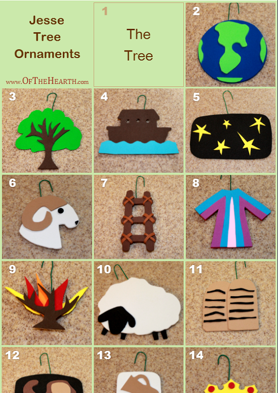 photo about Jesse Tree Symbols Printable identified as 25+ Most straightforward Options for Do-it-yourself Jesse Tree Ornaments - Proverbial