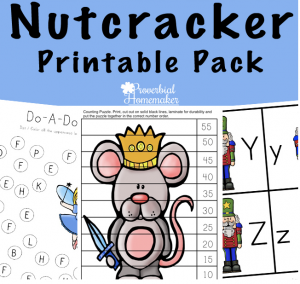 Do your kids love the story of the Nutcracker? This 75-page Nutcracker printable pack is great for homeschooling or just for Christmas learning fun!