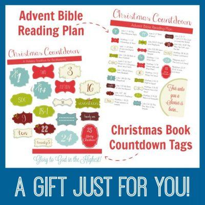 Christmas Book Countdown & Bible Reading Plan