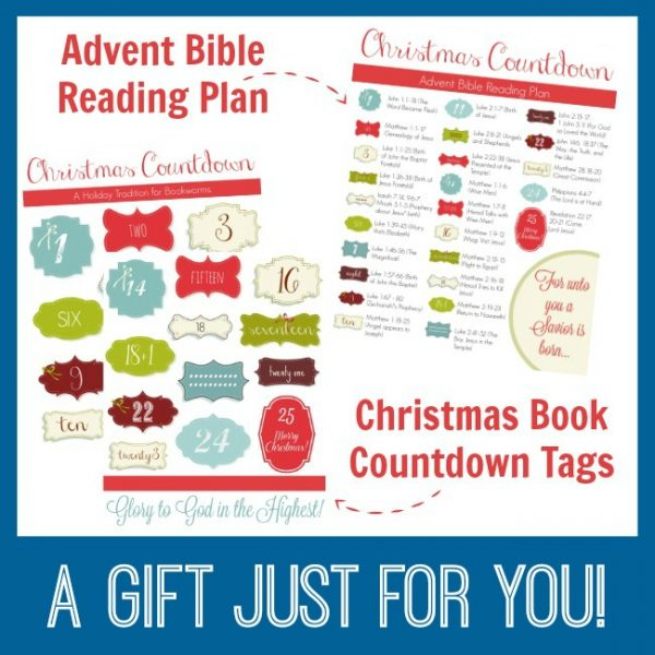 Enjoy this Christ-centered Christmas book countdown that includes a Bible reading plan!