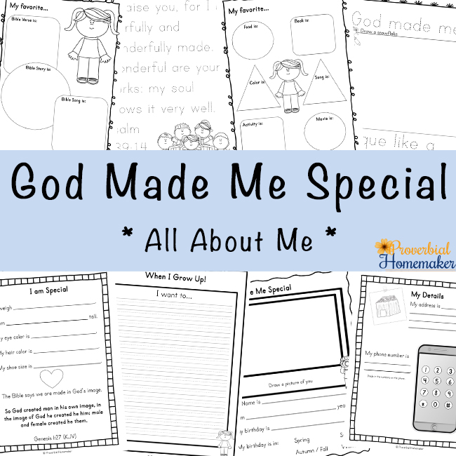 God Made Me Special Printable Pack