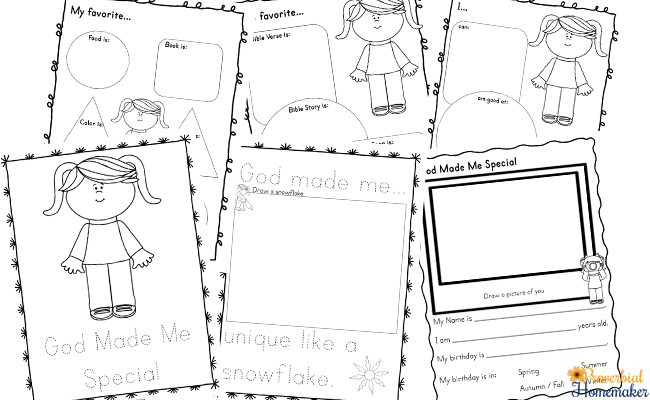 God Made Me Special Printable Pack - Proverbial Homemaker
