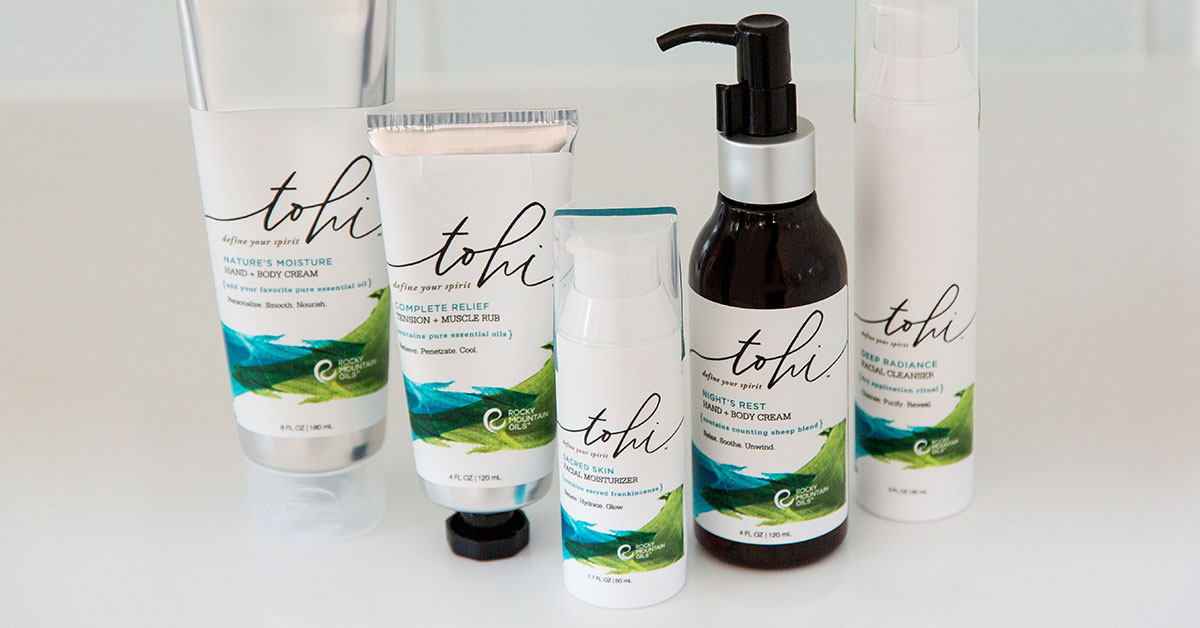 Best skincare gift idea Tohi line from Rocky Mountain Oils - LOVE this stuff!