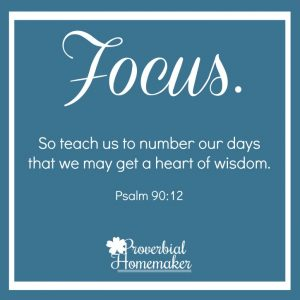 One Word for the year - Focus