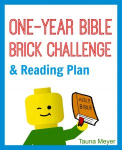 Your kids will love this Bible Lego challenge - a One-Year Bible Brick Challenge with a simple reading plan! Perfect for extra reinforcement of Bible stories or as a survey of the Bible or Lego family devotion.