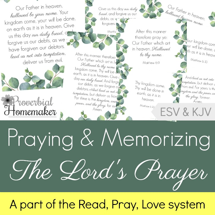 photograph relating to The Lord's Prayer Kjv Printable identified as Praying and Memorizing The Lords Prayer - Proverbial Homemaker
