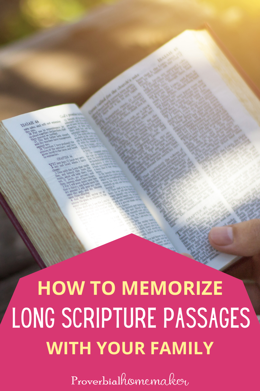 Want to memorize long Scripture passages with your kids? Find out some great tips and printable resources to help you make it successful.