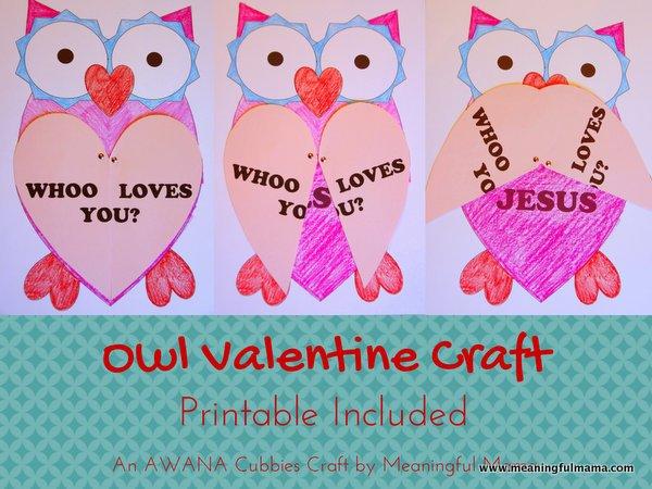 valentine owl craft free preschool crafts - 560×420