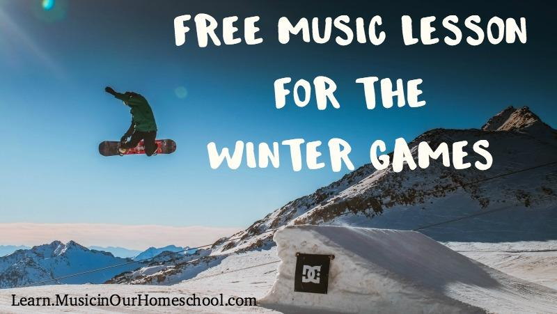 Free Music Lesson for the Winter Games